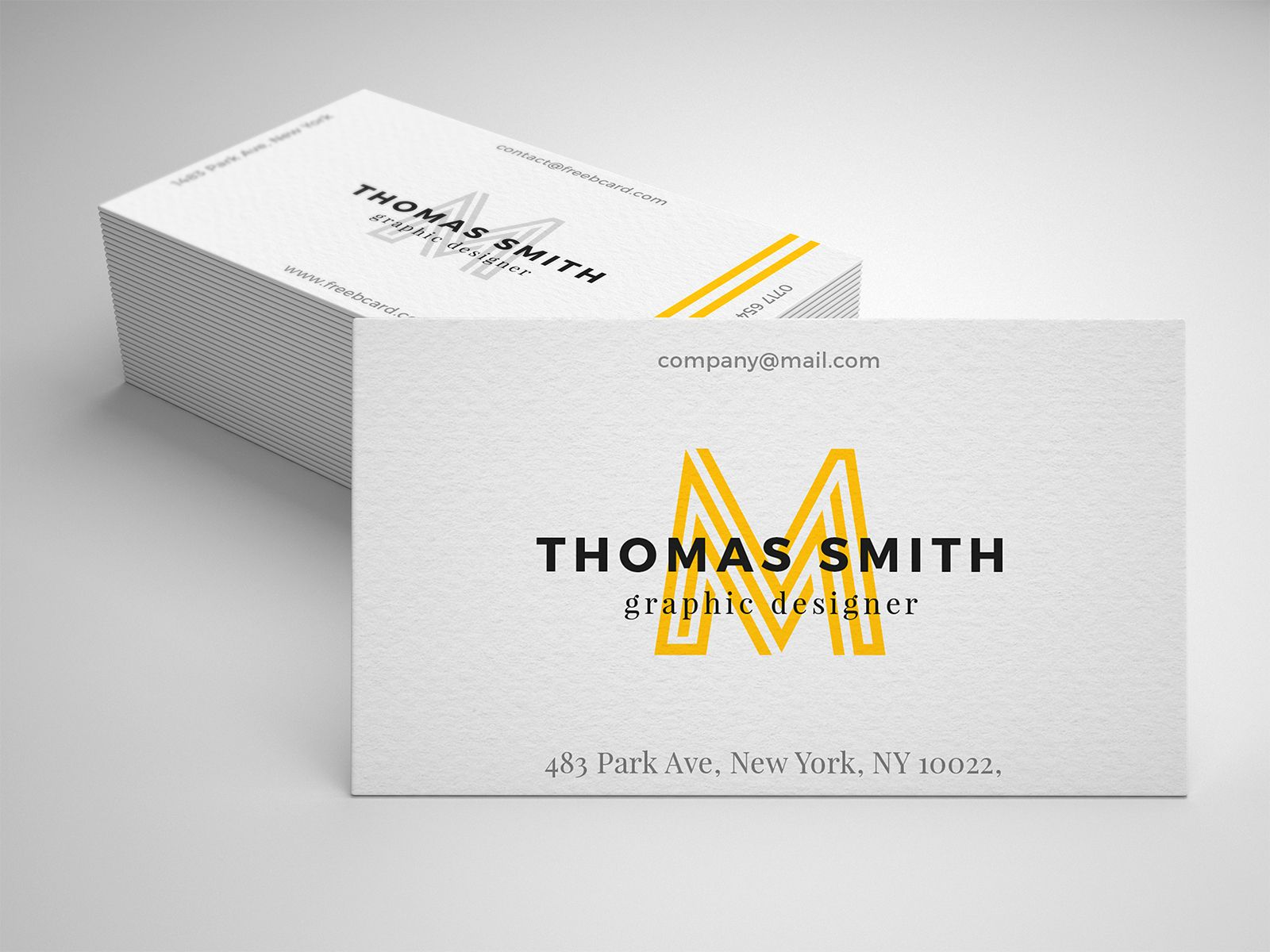 Realistic Business Card Mockup Free PSD in 2020 Business