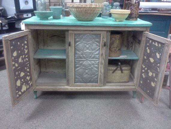 CUSTOM MADE Country Kitchen Island or cupboard by RErusticeclectic