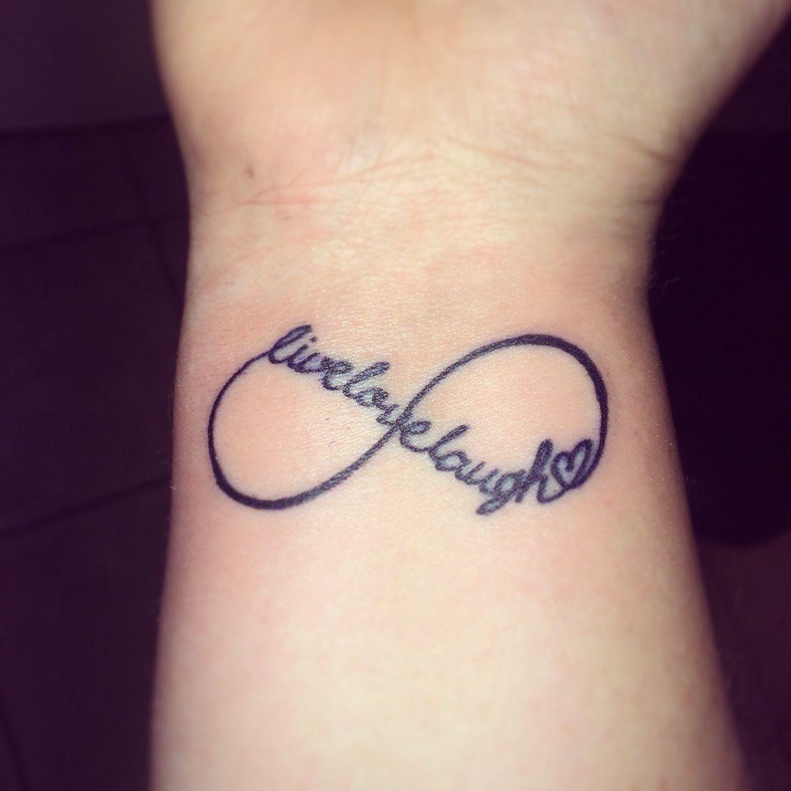 Tattoo Live Love Laugh Infinity Inspirational Tattoos Infinity Tattoos Pink Ribbon Tattoos