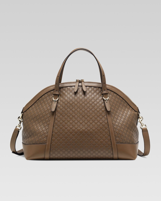 Gucci Gucci Nice Microguccissima Top Handle Bag, Medium Brown - Neiman Marcus
