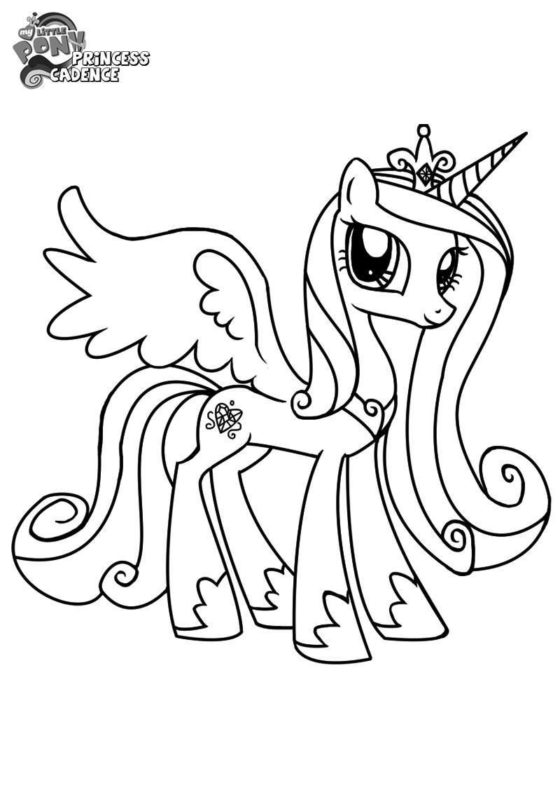 My Little Pony Princess Cadence Coloring Page Anak Pengasuh Anak