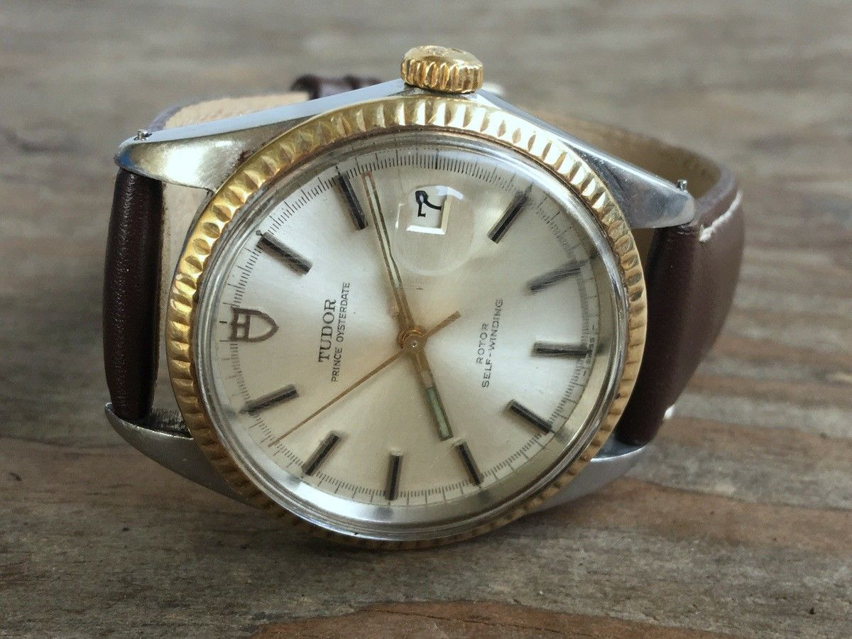 Tudor Rolex Oyster Automatic Jumbo 38mm Ref 7025 4 Stainless Gold