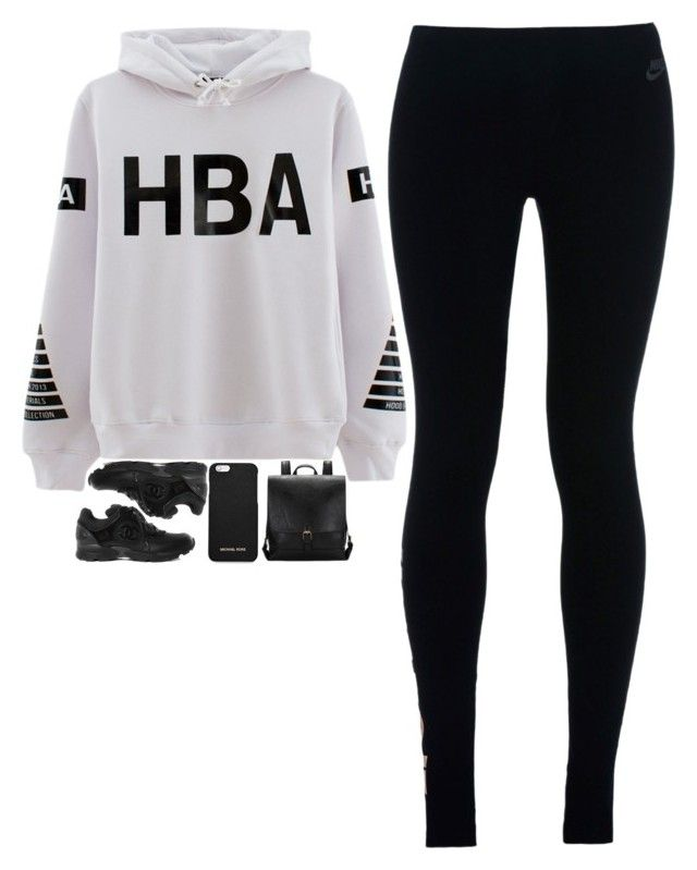 """""""5113"""" by tiffanyelinor ❤ liked on Polyvore featuring NIKE, VFiles and MICHAEL Michael Kors"""