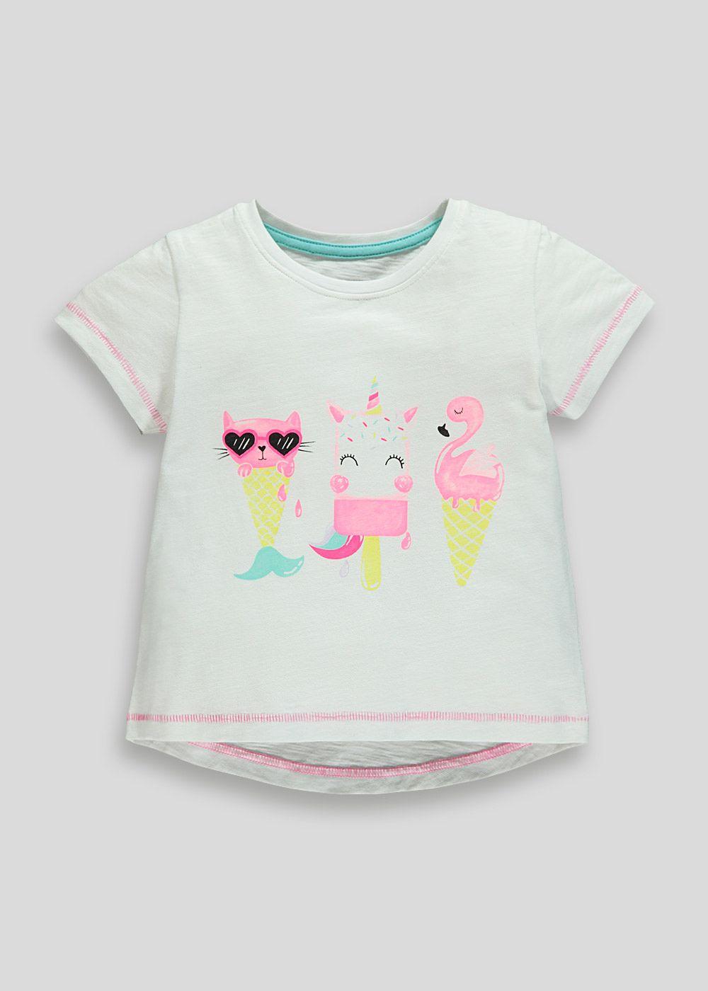 Kids ice cream tshirt 9mths6yrs white