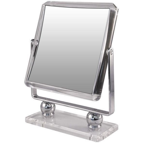 Rucci M963 Square Metal Stand With Acrylic Base 7x Vanity Mirrors