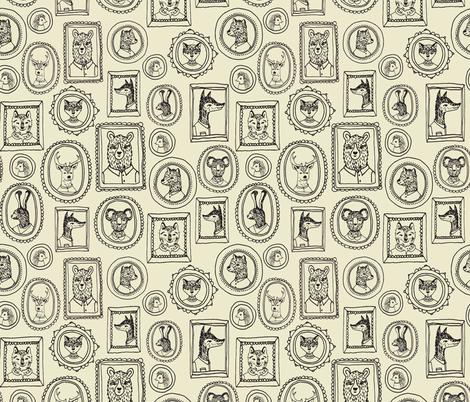 Animal Frames - Medium Khaki fabric by andrea_lauren on Spoonflower - custom fabric