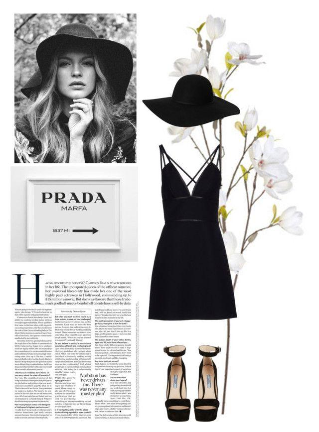 """Prada"" by sarah-e-k ❤ liked on Polyvore featuring OKA, Prada, Monki, women's clothing, women, female, woman, misses and juniors"