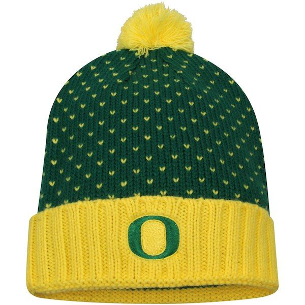 cefc193c464 Oregon Ducks Nike Women s Local DNA Cuffed Knit Hat - Green  OregonDucks