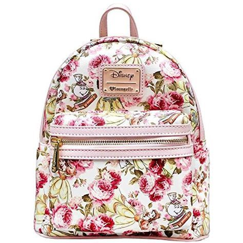 2cfd744c4e1 Loungefly X Disney Belle Floral AOP Mini Backpack Loungefly  https   www.amazon