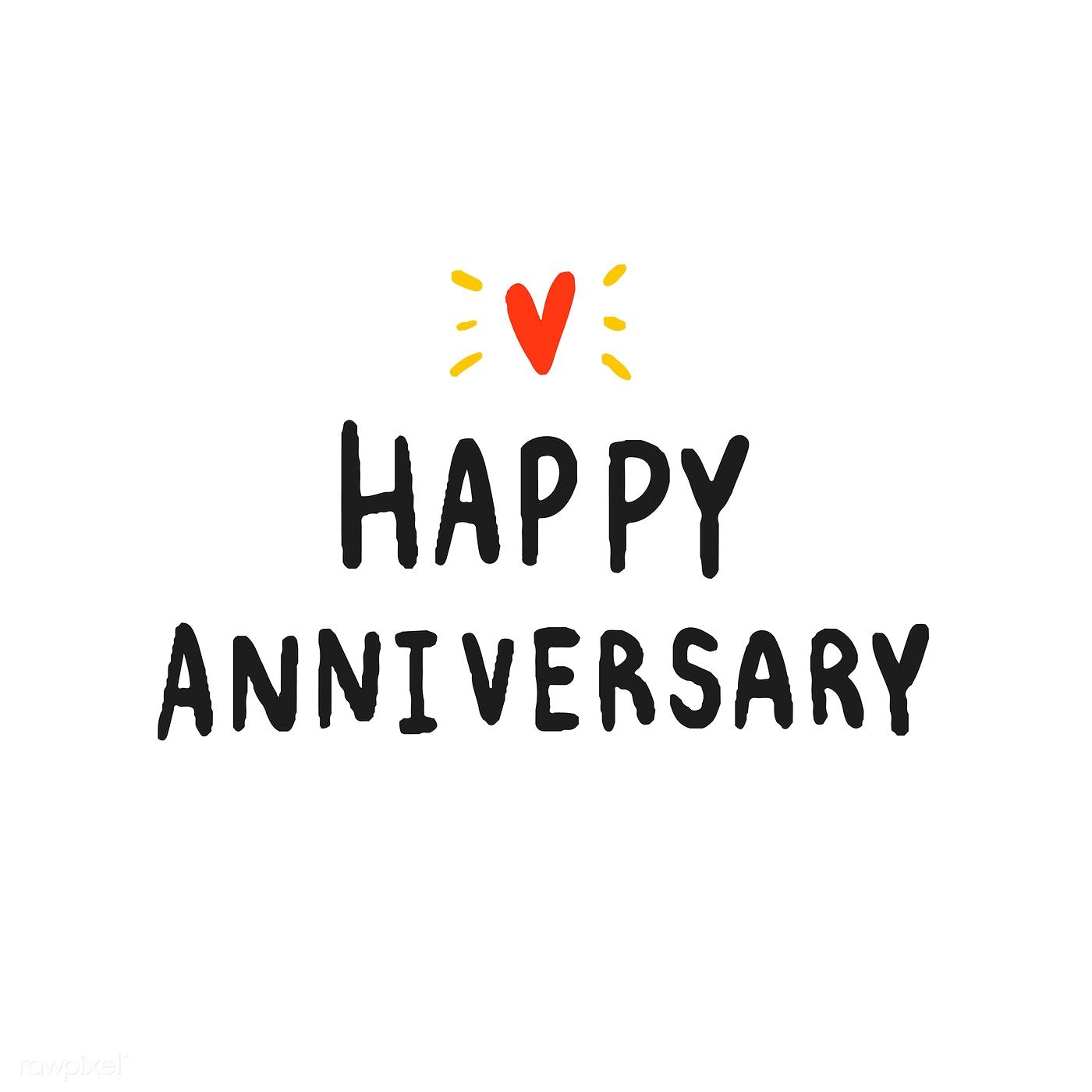 Happy Anniversary Typography In Black Free Image By Rawpixel Com