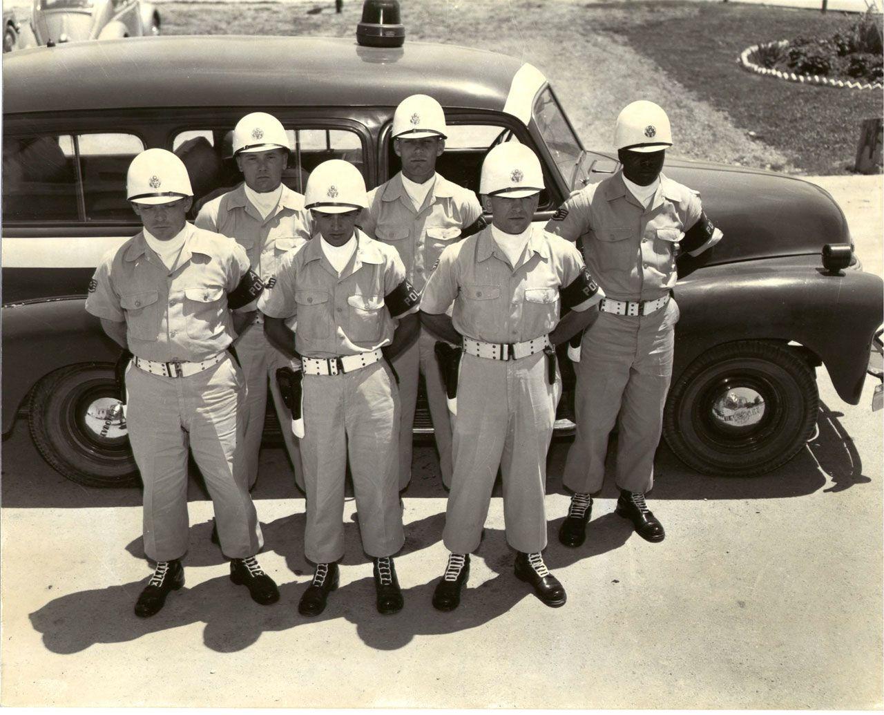 U.S.A.F. Air Policeman & patrol vehicle (1950's) The