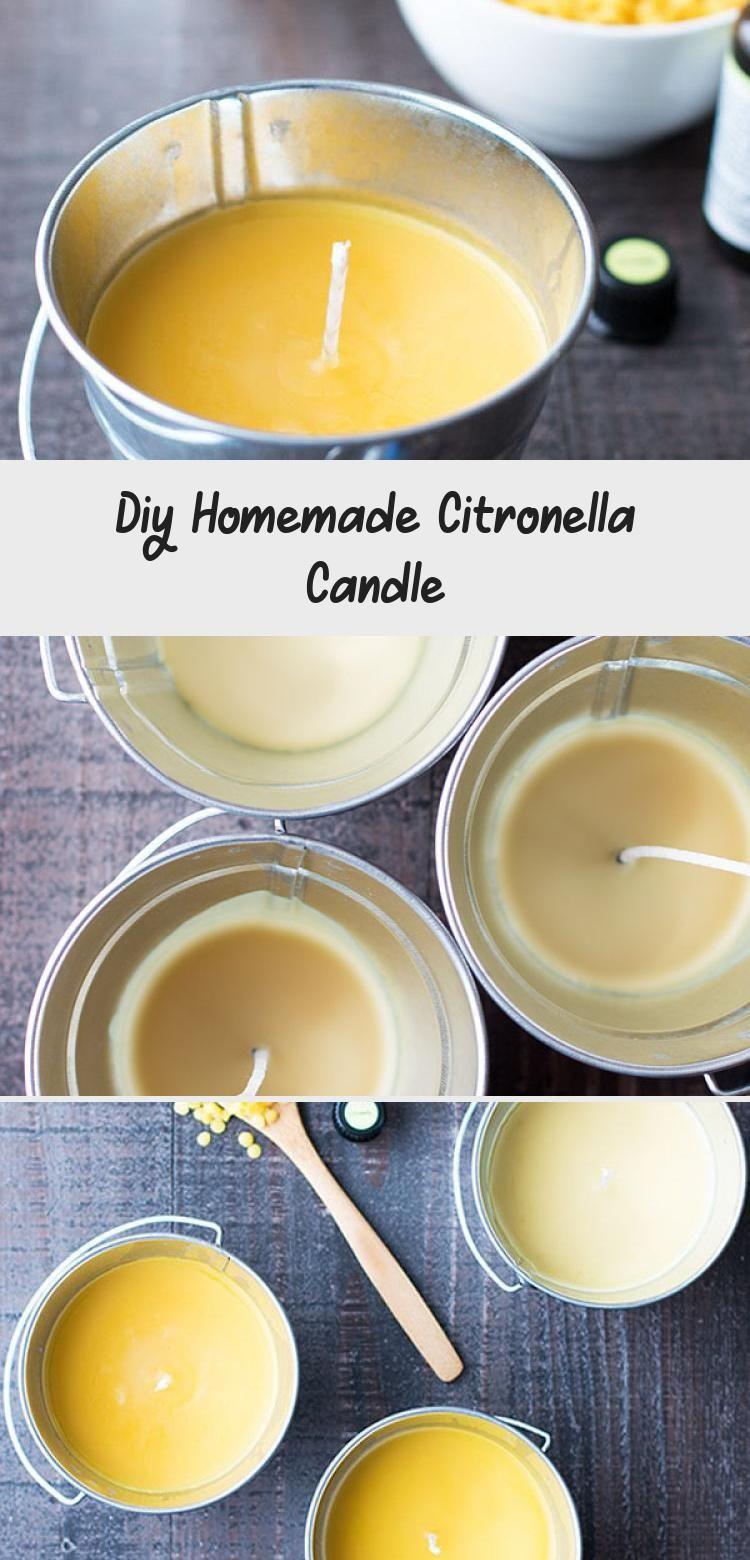 Homemade Citronella Candle Citronella candles, Diy