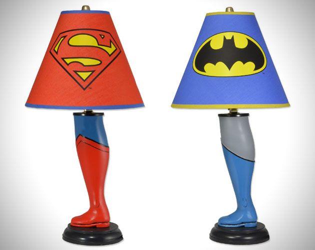 Lampes De Chevet Superman Et Batman Entertainment Superman