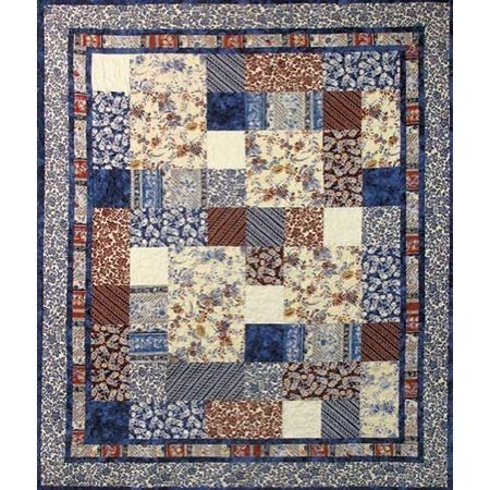 """Really like the border idea! Hoffman Bloomin' Paradise Quilt Kit featuring Bali Paradise prints. 64"""" x 75"""""""