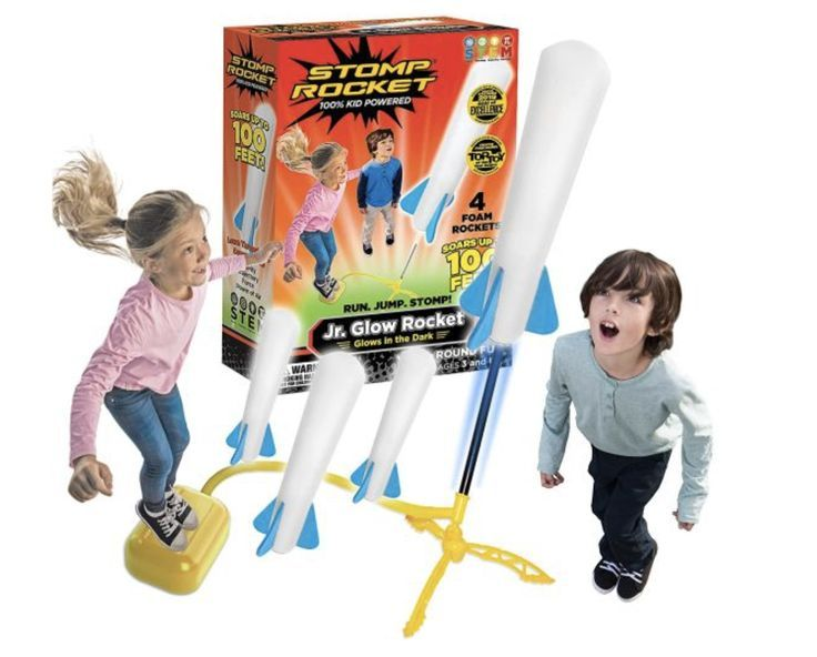 This cool rocket toy is perfect for kids who love outer space! Stomp on the rocket and send it shooting upwards. A brilliant outdoor toy.