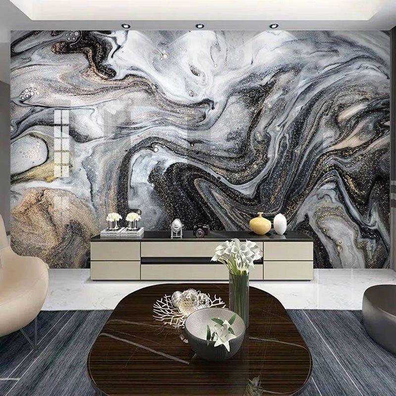 Online Shop 3d Wallpaper Modern Fashion Abstract Stripe Marble Photo Wall Murals Living Room Tv Sofa Art Home Decor Wa 3d Wallpaper Wall Painting Tv Wall Decor