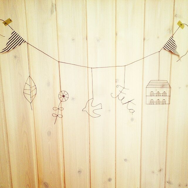 壁 天井 ワイヤークラフト 手作り 雑貨 ガーランド などのインテリア