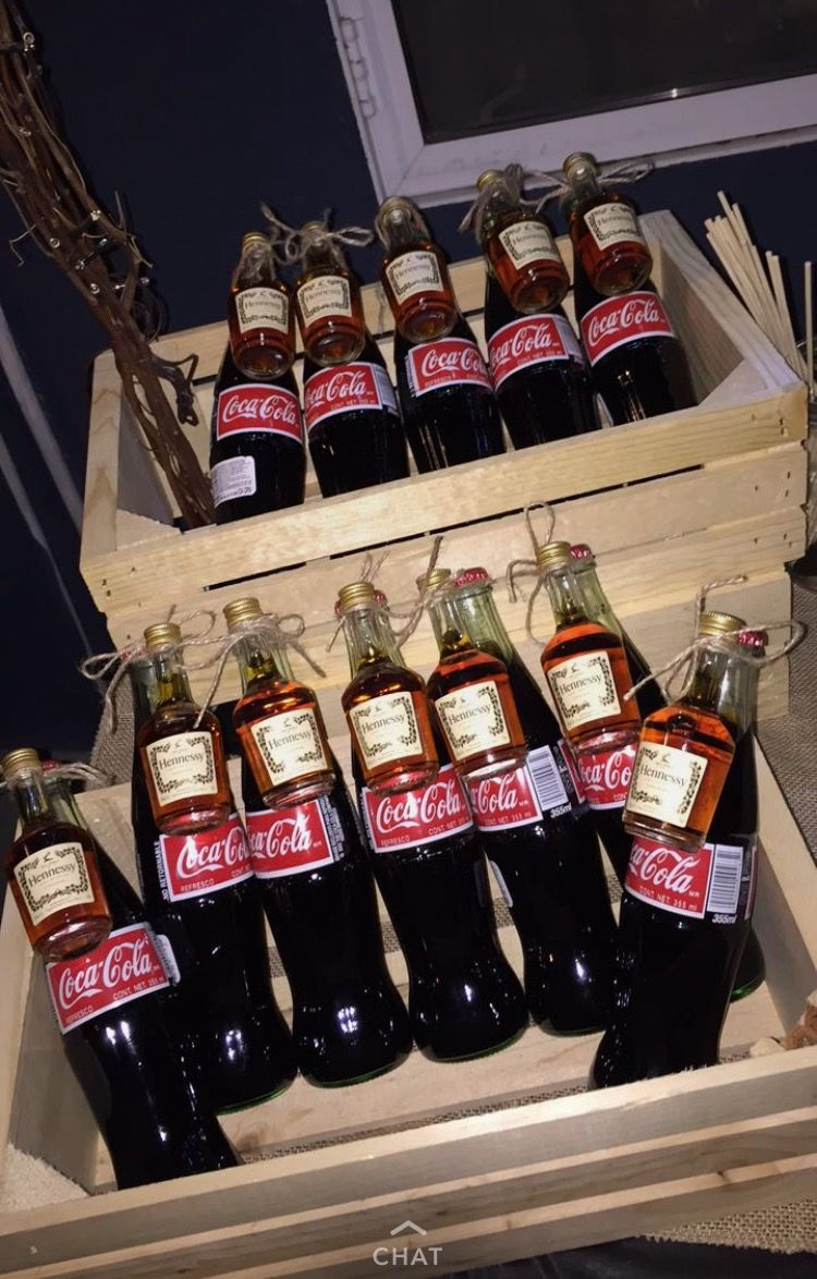 Henny & Coke Party Favors  Inspired by Pinterest 💕 | Party