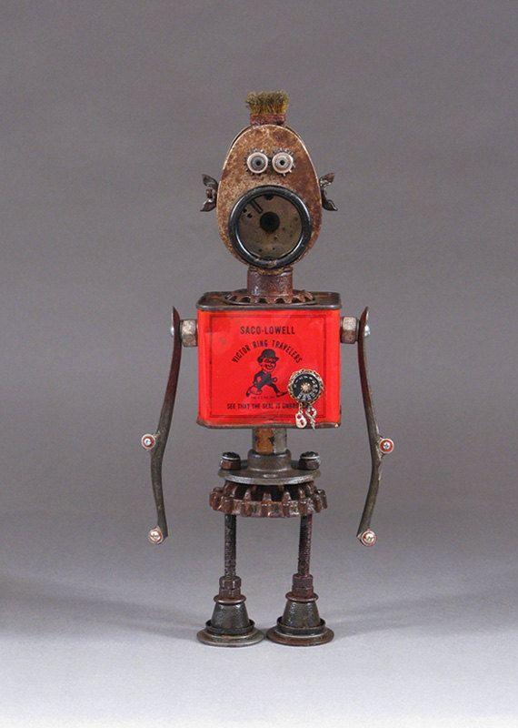 ROBOT SCULPTURE  Metal sculpture Junk metal by CastOfCharacters23  Stop by my Etsy Shop: www.etsy.com/shop/TeoldDesign