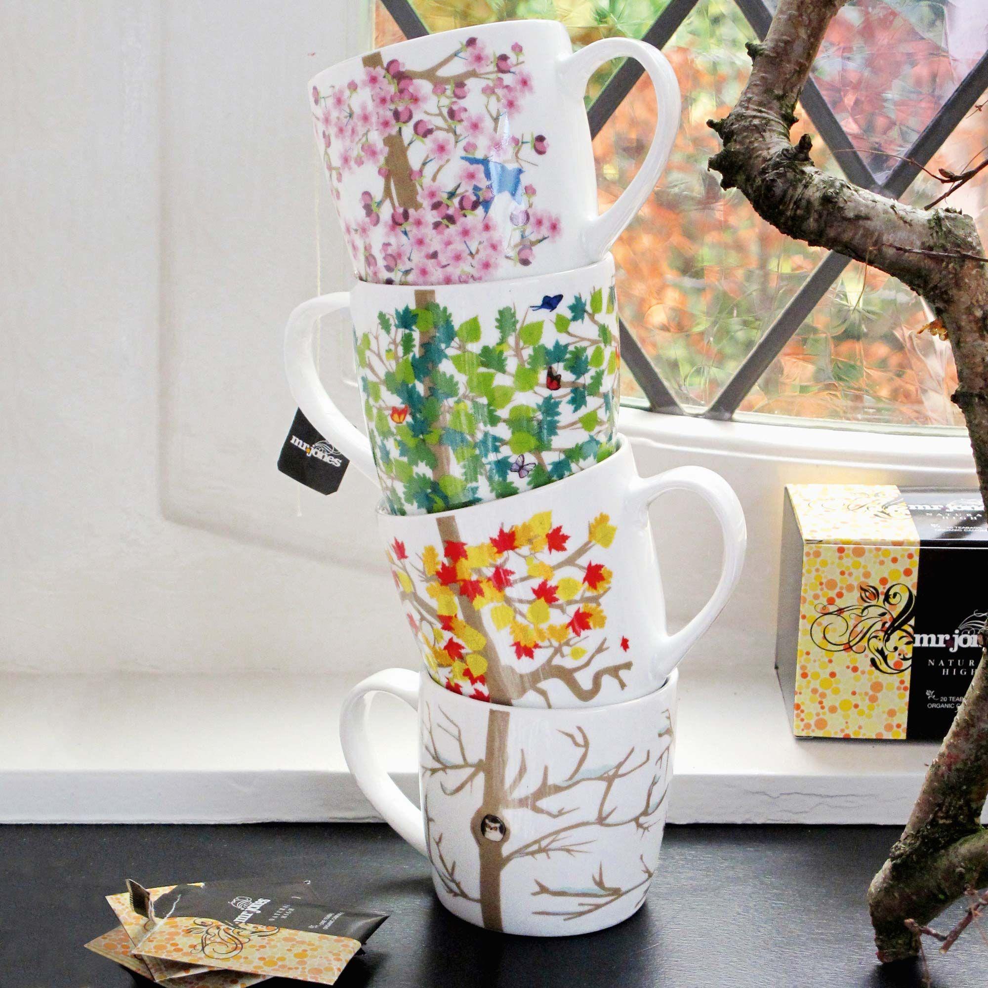tree cups/mugs for all seasons Deko, Accessoires, Wohnen