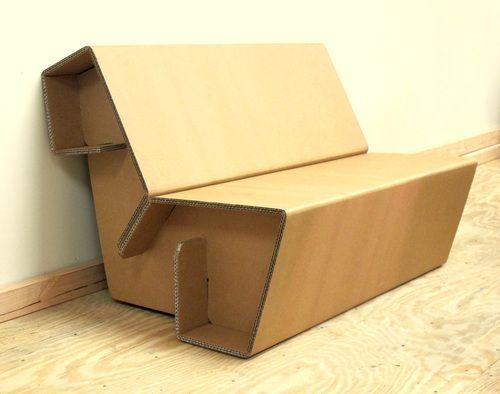 Cardboard Furniture Bench | Cardboard chair, Cardboard