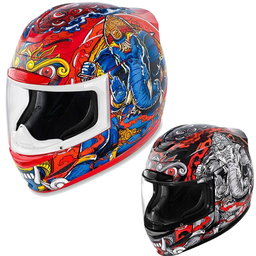 Large Red ICON MotoSports Alliance OVERLORD Full-Face Motorcycle Helmet L