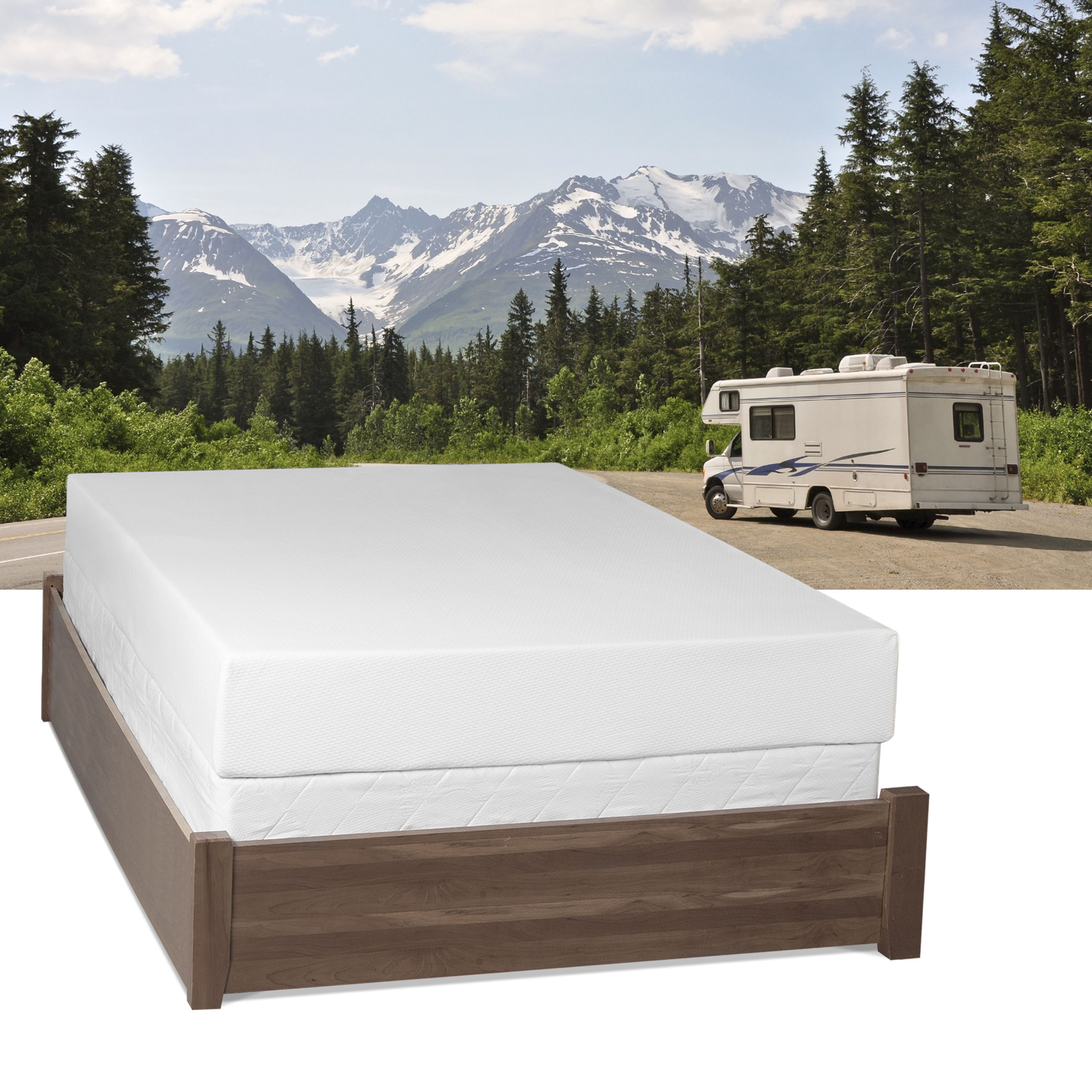 Get the restful sleep you need to be able to function on all cylinders with this comfortable memory foam RV mattress. The mattress is specifically designed by NASA to give your body the perfect support needed for optimal spinal alignment.