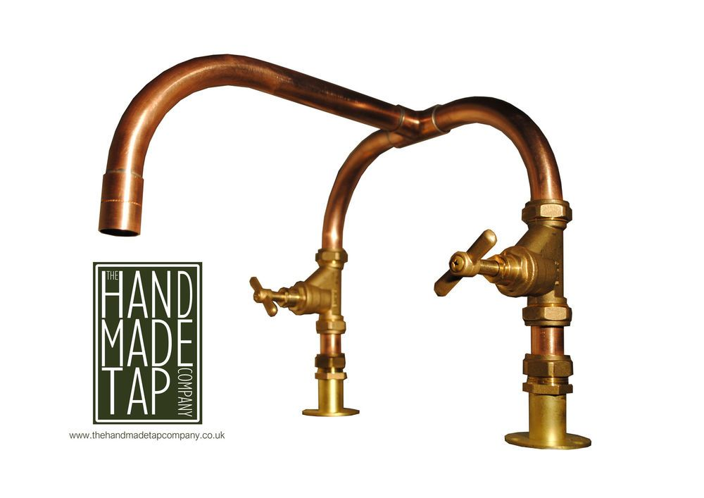 Handmade Copper Pipe Kitchen Basin Bath Mixer Tap Industrial