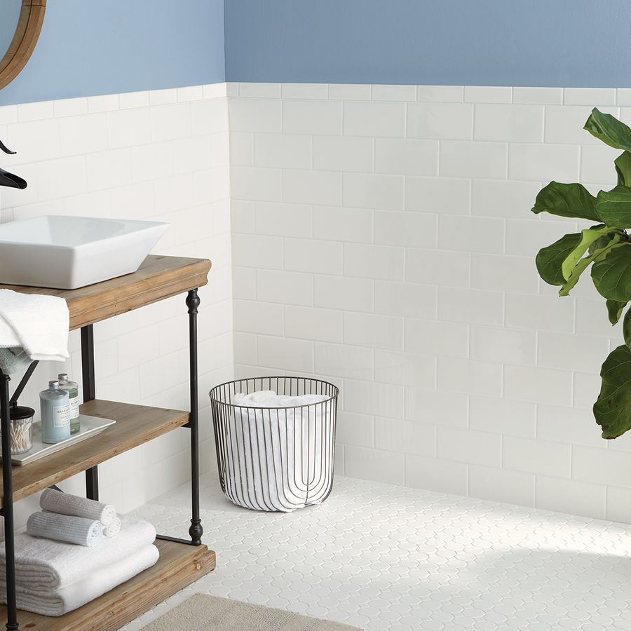 Shop American Olean Sausalito White White Honeycomb Mosaic Ceramic ...