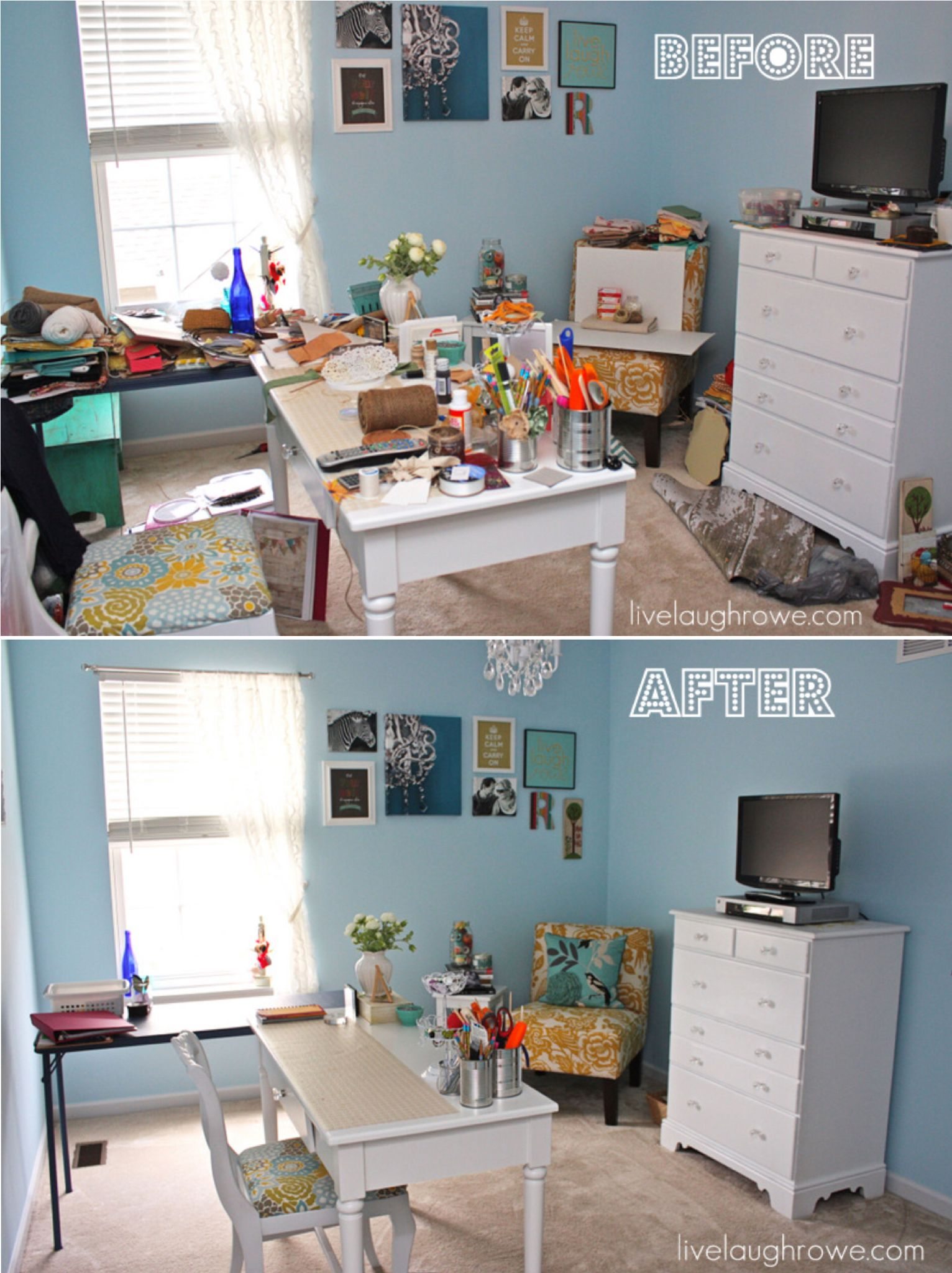 Messy Craft Room Via Live Laugh Rowe Messy Crafts Craft