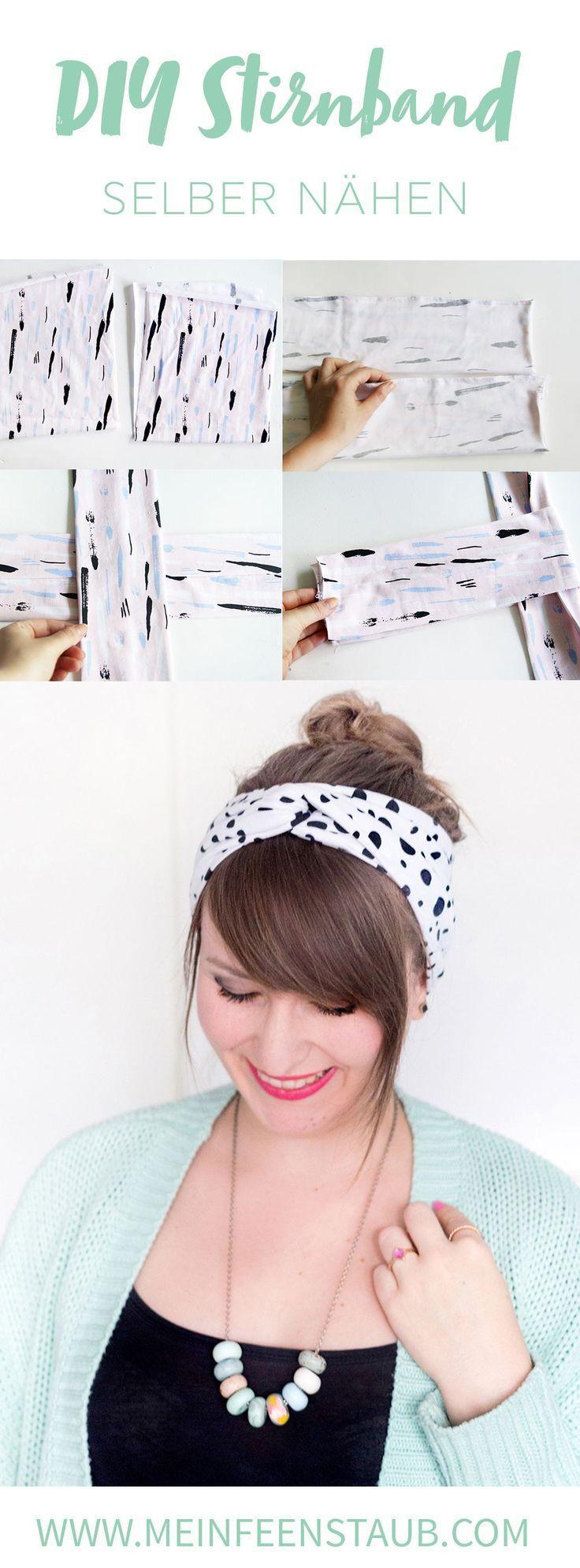 Kreative DIY-Idee zum Selbermachen: Einfaches Turban-Stirnband oder Turban-Haarband nähen - aus