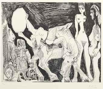 PABLO PICASSO (1881-1973) CIRQUE: ECUYÈRE, FEMMES ET SPECTATEURS, FROM LA SÉRIE 347