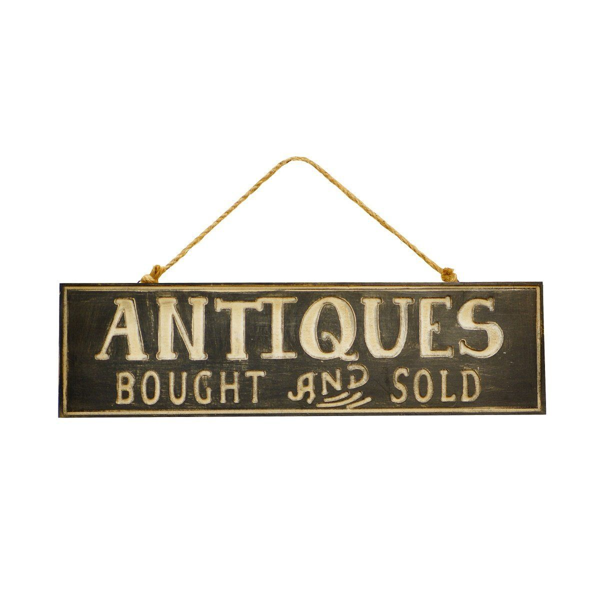 VIP Home And Garden 19u0027 Decorative Sign U0027Antiques Bought And Soldu0027 For  Vintage