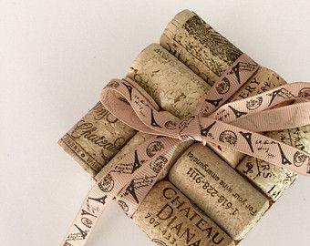 Slate Coaster TWO Wine Cork Coaster Set of by MaxplanationPhotos