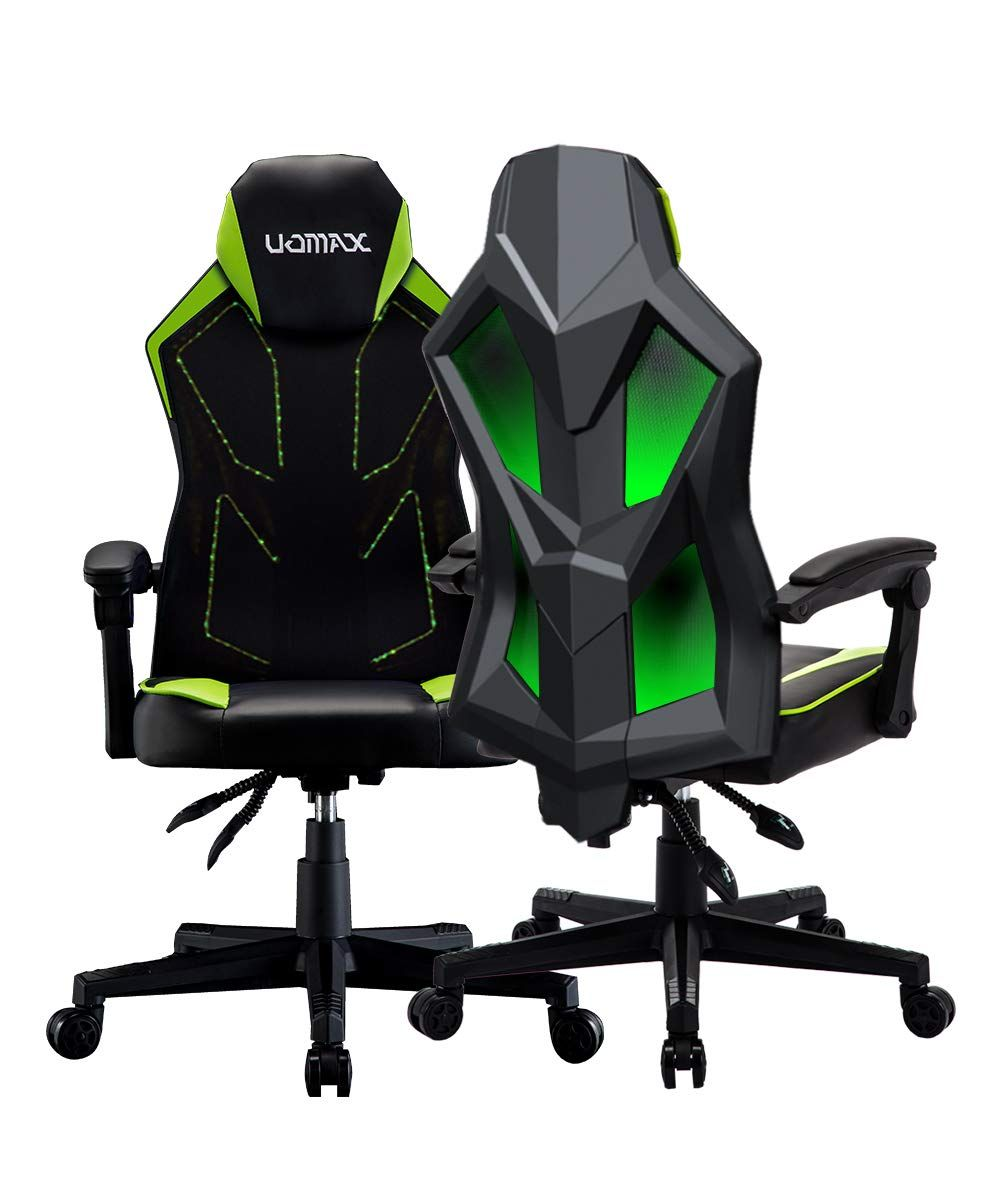 Uomax Gaming Chairs Ergonomic Computer Chair For Gamers Green In 2020 Gaming Chair Racing Chair Ergonomic Computer Chair