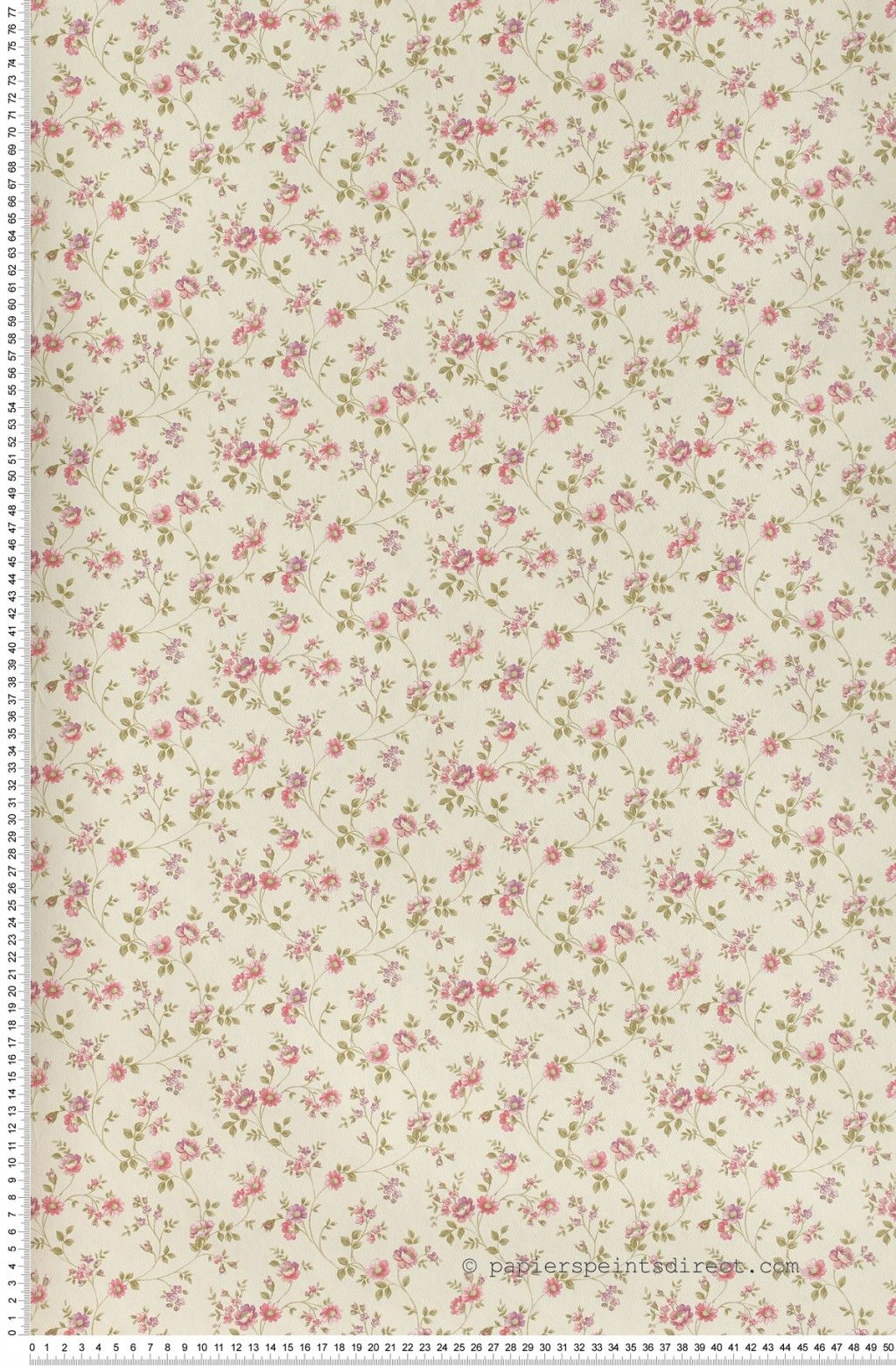 Fleurs cottage rose - Papier peint Lutèce | Chambre Garance ...