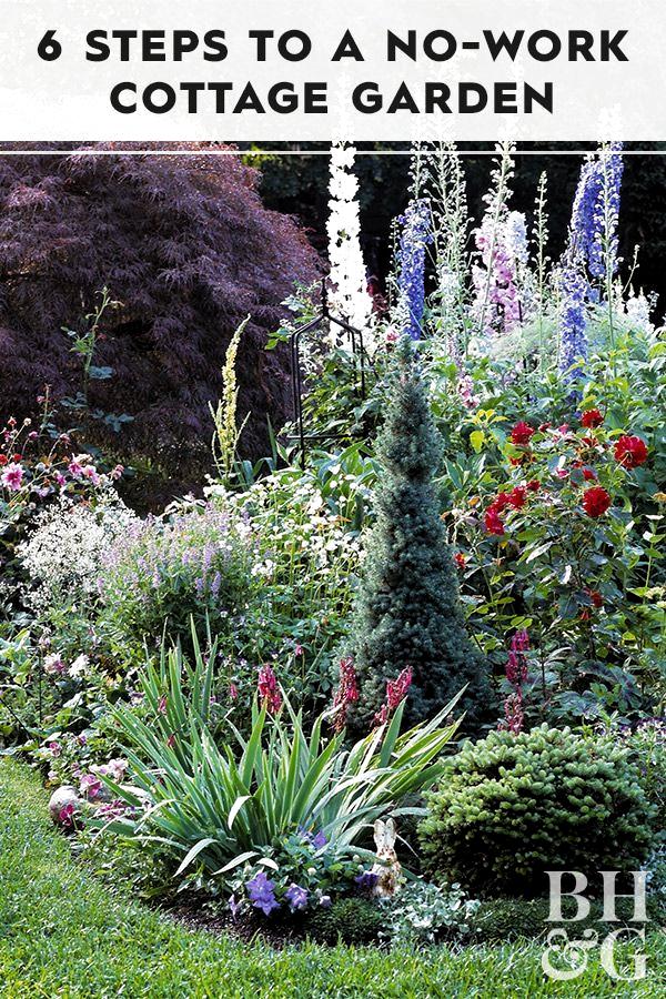 6 Schritte zum No-Work Cottage Garden ,  #cottage #garden #schritte #Cottage #Garden #NoWork #Schritte #zum