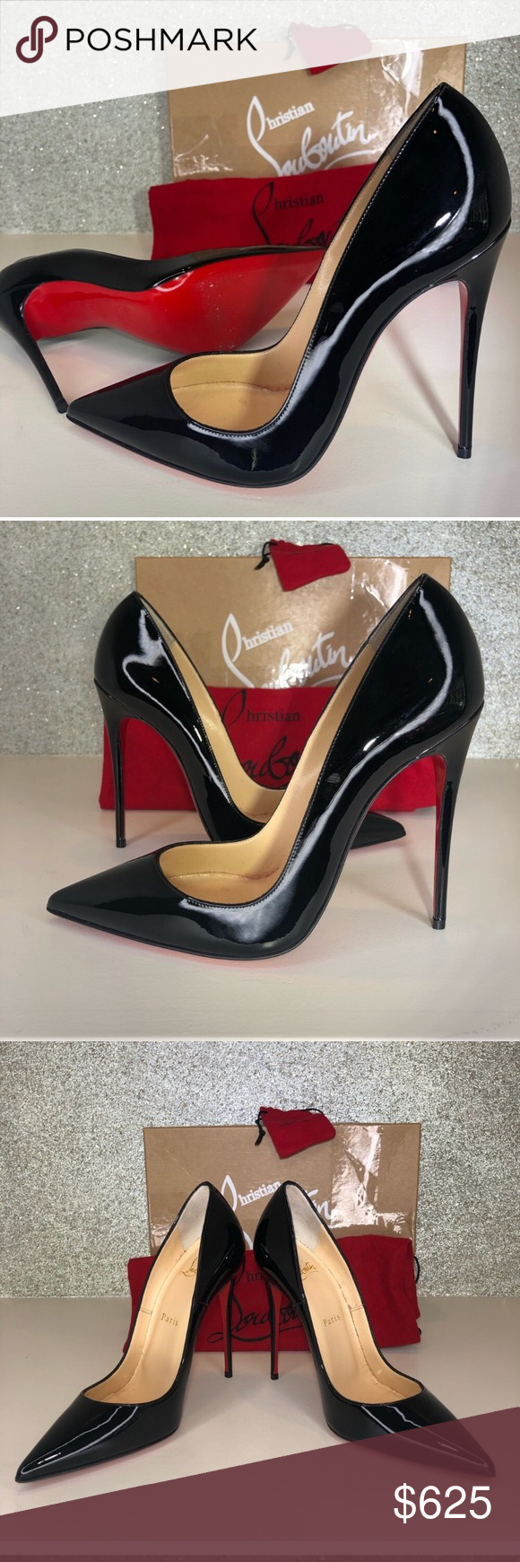 28787f0ee2e Louboutin So Kate black patent leather pumps 37.5 Excellent ...