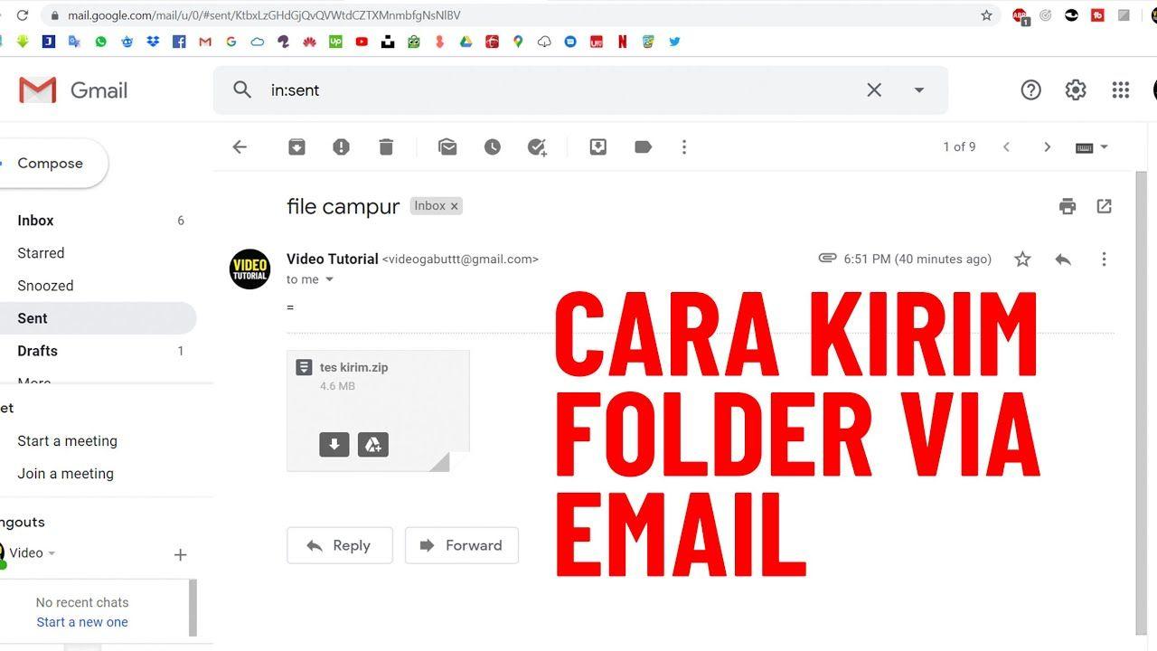 Cara Mengirim File Dalam Bentuk Folder Lewat Email Di Laptop Youtube Bentuk