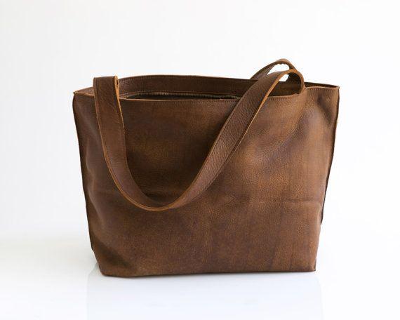 Walnut Brown Leather Tote Bag Soft Leather Bag Women Handbag Zipper Bag Shiri Brown Leather Tote Bag Leather Bag Women Handbags Full Grain Leather Bag
