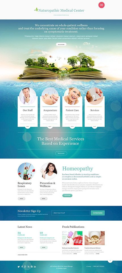 Naturopathic Medical Center #website #template. #themes #business ...