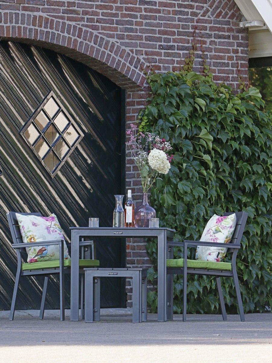 Modernes Balkon Set aus Aluminium und Polywood #gartenmöbel