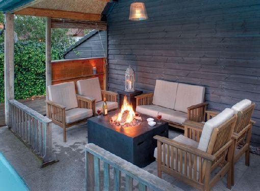 Gardenplaza - Mit gasbetriebenen Feuerstellen die Abende