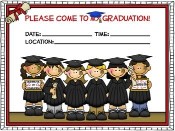 free 4 different styled graduation invitations to use to invite your