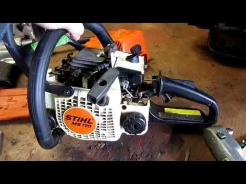 HOW TO - Carburetor & Fuel Line Repair on STIHL 017, MS170