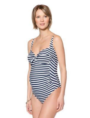2a3e5eeb9f4c9 Seraphine A Pea in the Pod Sweetheart Detail Maternity One Piece Swimsuit