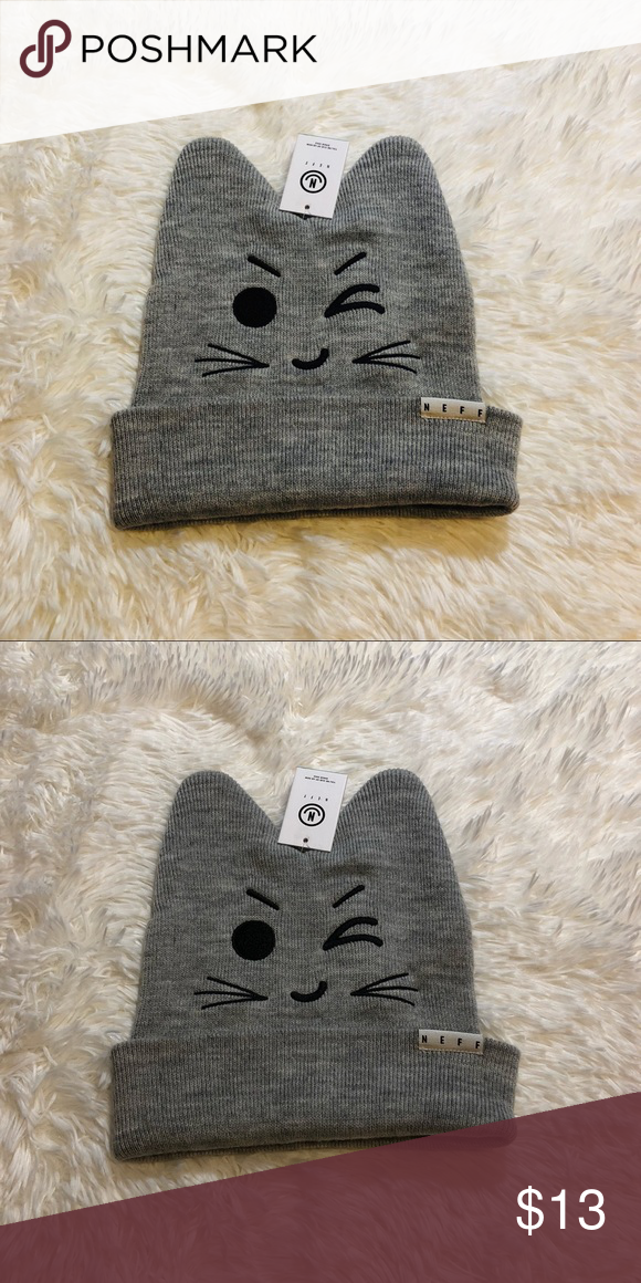 06108f02d77 New neff kitty hat beanie Brand new with tags. Price is firm. Neff  Accessories Hats