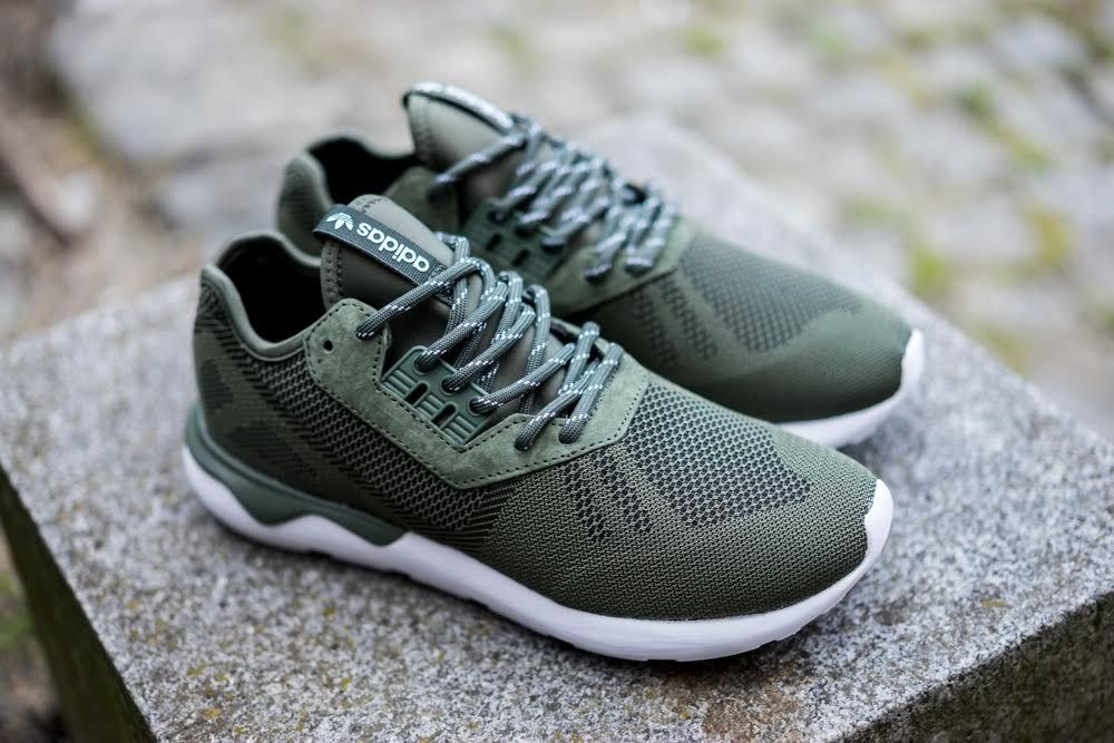 The adidas Originals Tubular Runner Weave is now rendered in a Base Green  colorway for its latest iteration this season.