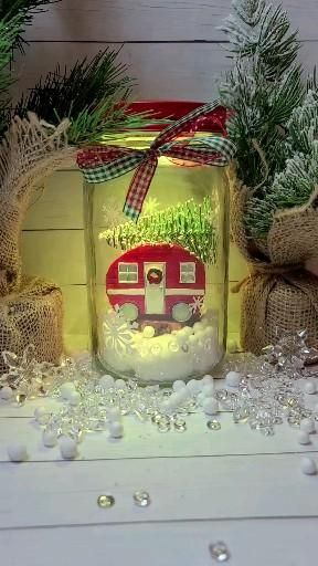 Christmas farmhouse color changing light up mason jar with remote control. -   19 diy christmas decorations dollar store easy ideas
