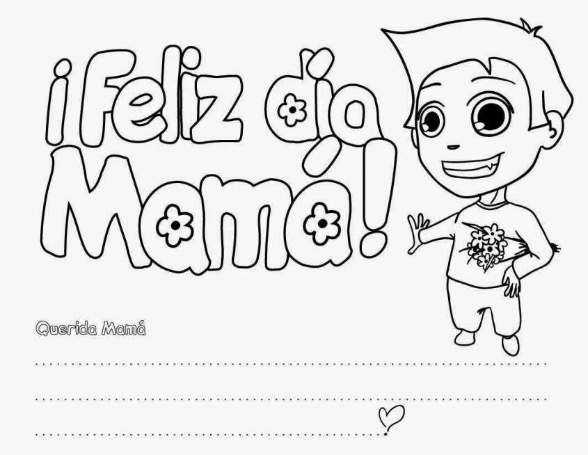 Dibujos Del Día De La Madre Para Colorear En El Colegio